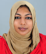 Ms. Muhsina Jaleel 1st Rank- B.Sc Microbiology